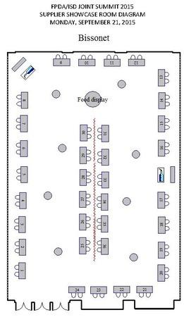 Supplier Showcase Room Diagram