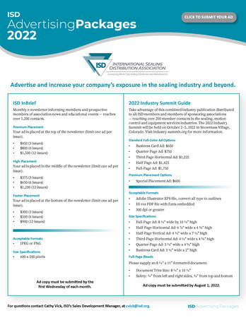 Isd Advertising Packages Page 1