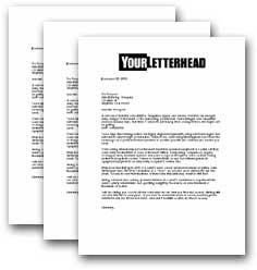 letter campaign sample